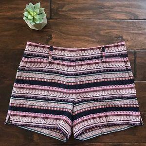 Ann Taylor LOFT Jacquard Tribal Print Shorts